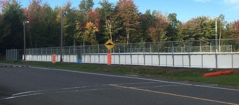 Clôture de patinoire