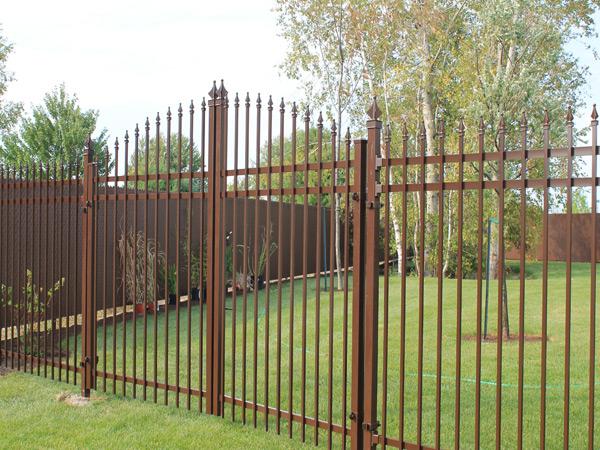 Clôture avec portail